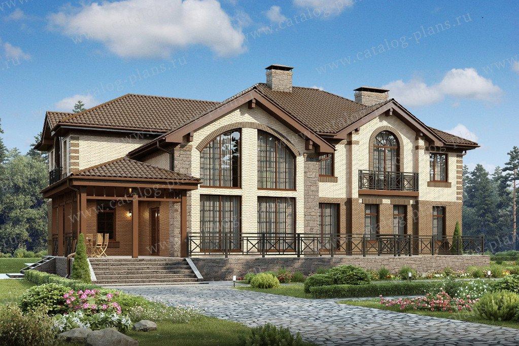 Проект жилой дом #47-37 материал - кирпич, стиль европейский