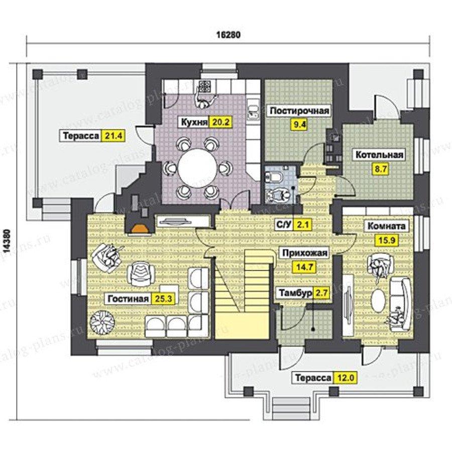 План 1-этажа проекта 47-46K