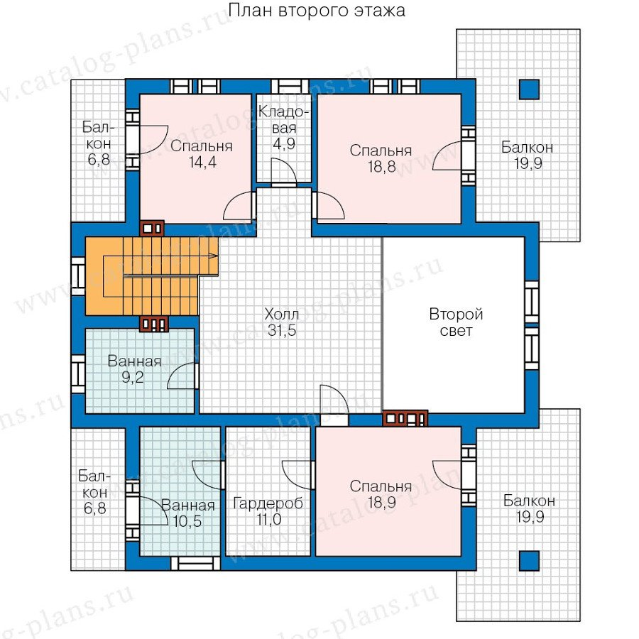 План 2-этажа проекта 40-09AG