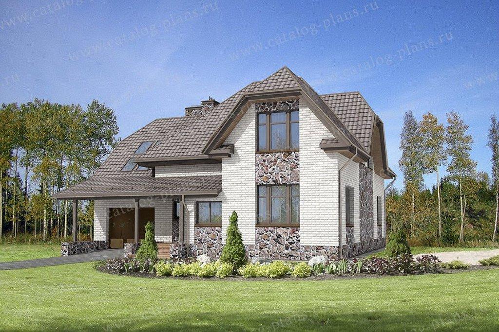 Проект жилой дом #47-45 материал - кирпич, стиль немецкий