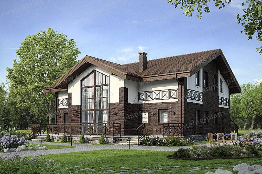 Проект жилой дом #47-53 материал - кирпич, стиль современный