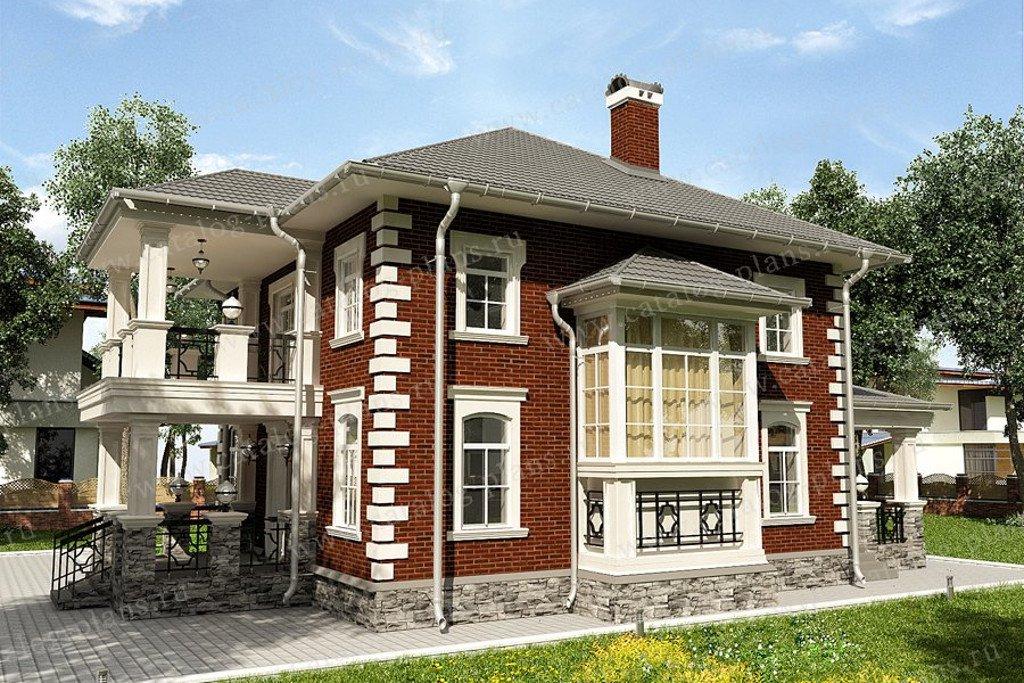 Проект жилой дом #47-48 материал - газобетон, стиль английский