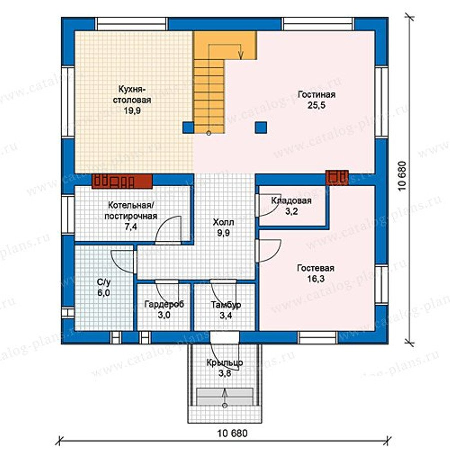 План 1-этажа проекта 40-07G