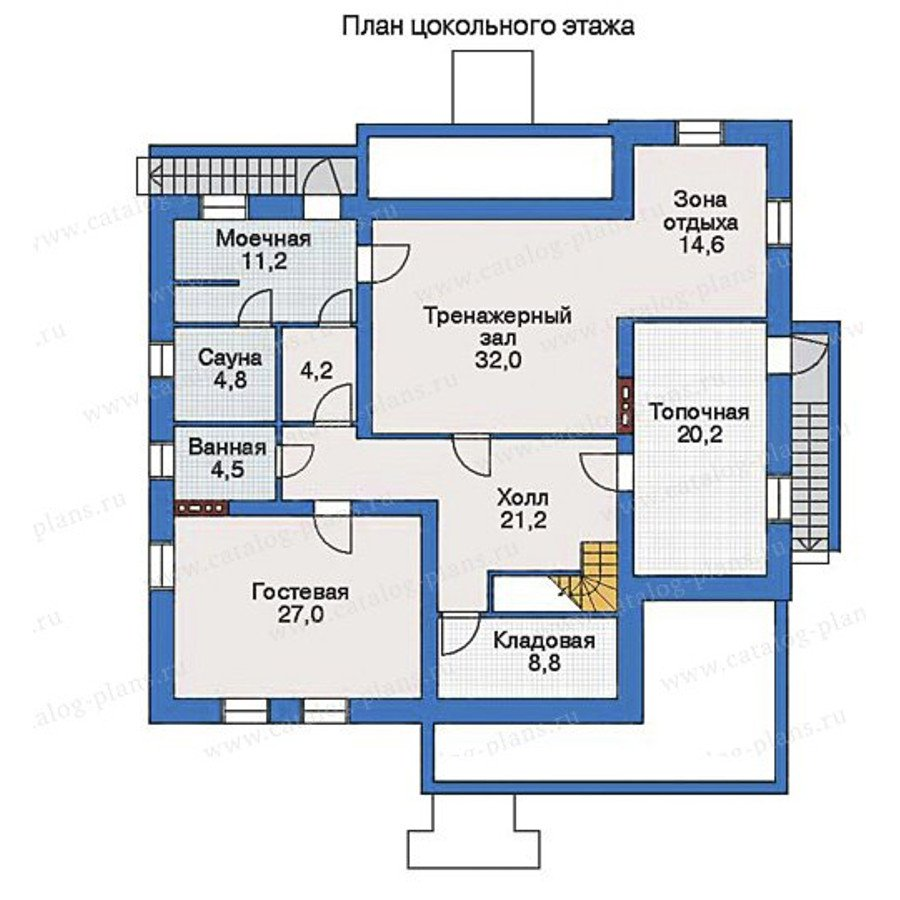 План 1-этажа проекта 33-07