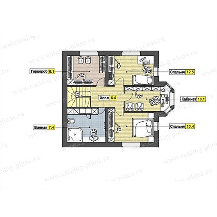 План 2-этажа проекта 47-52