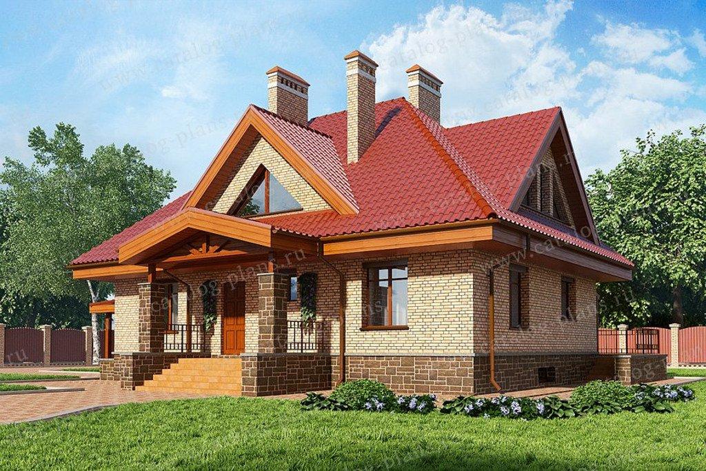 Проект жилой дом #60-34 материал - газобетон, стиль европейский