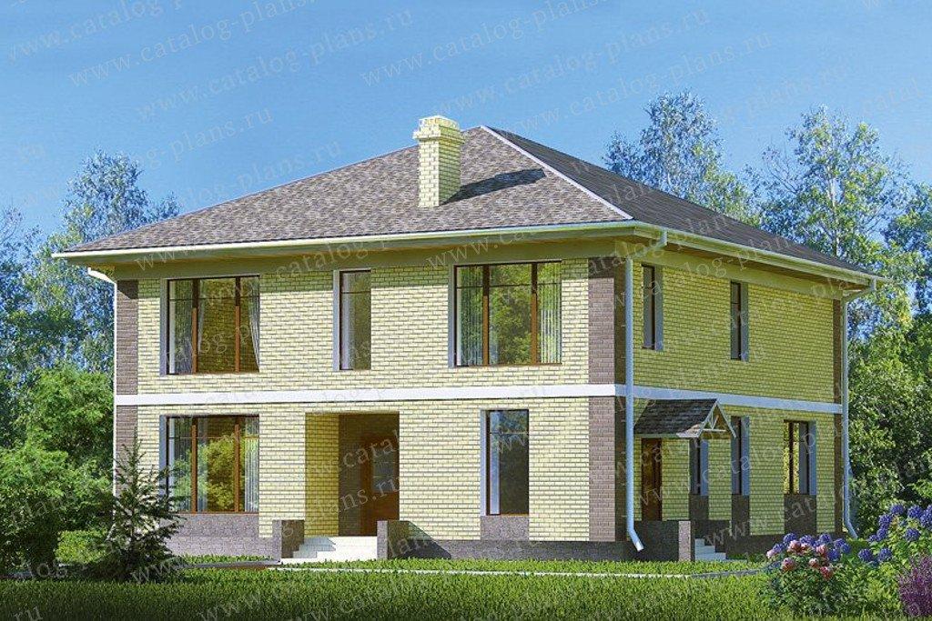 Проект жилой дом #47-39 материал - кирпич, стиль современный