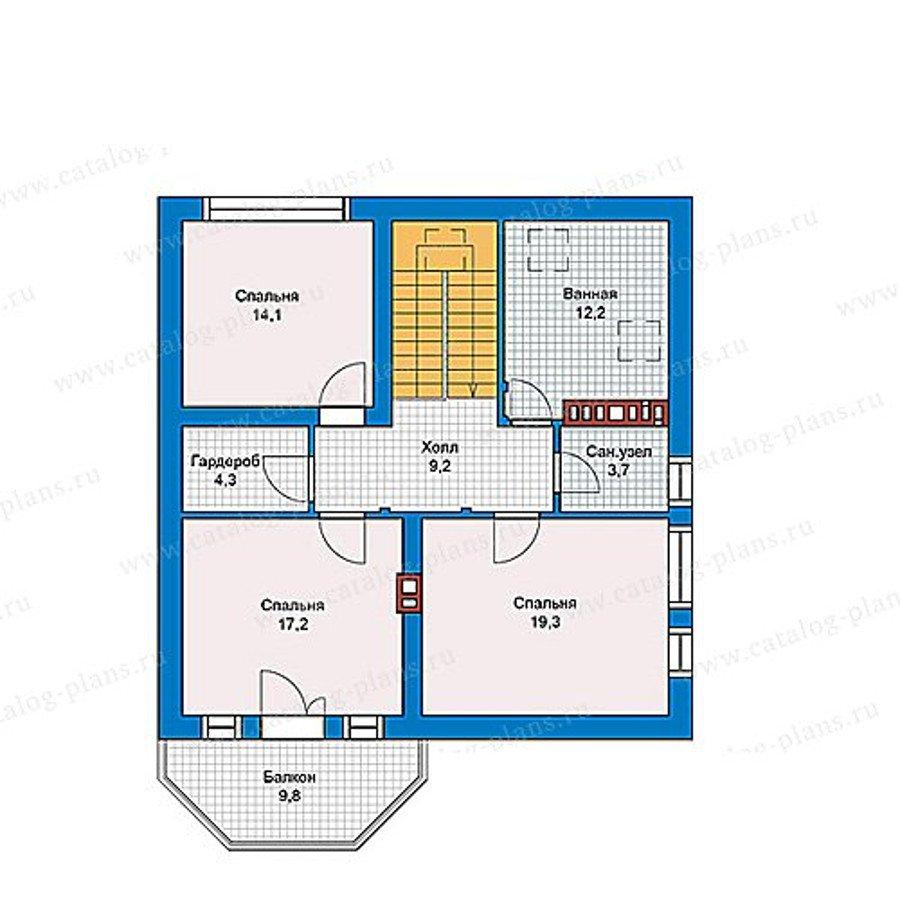 План 2-этажа проекта 40-16KL