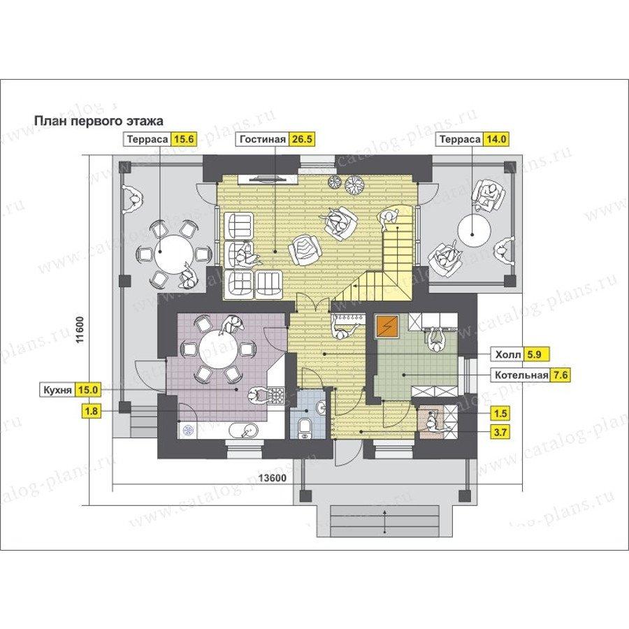 План 1-этажа проекта 47-51G