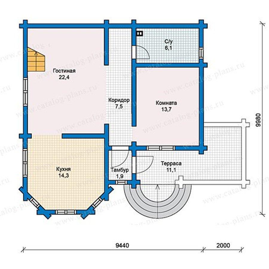 План 1-этажа проекта 13-15