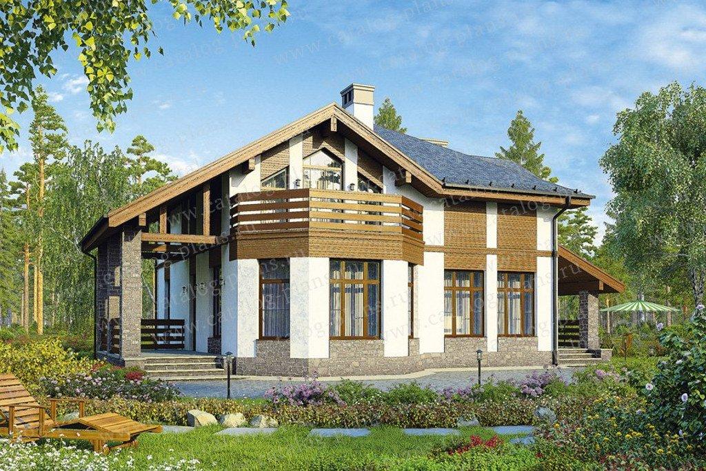 Проект жилой дом #40-16G материал - газобетон, стиль скандинавский