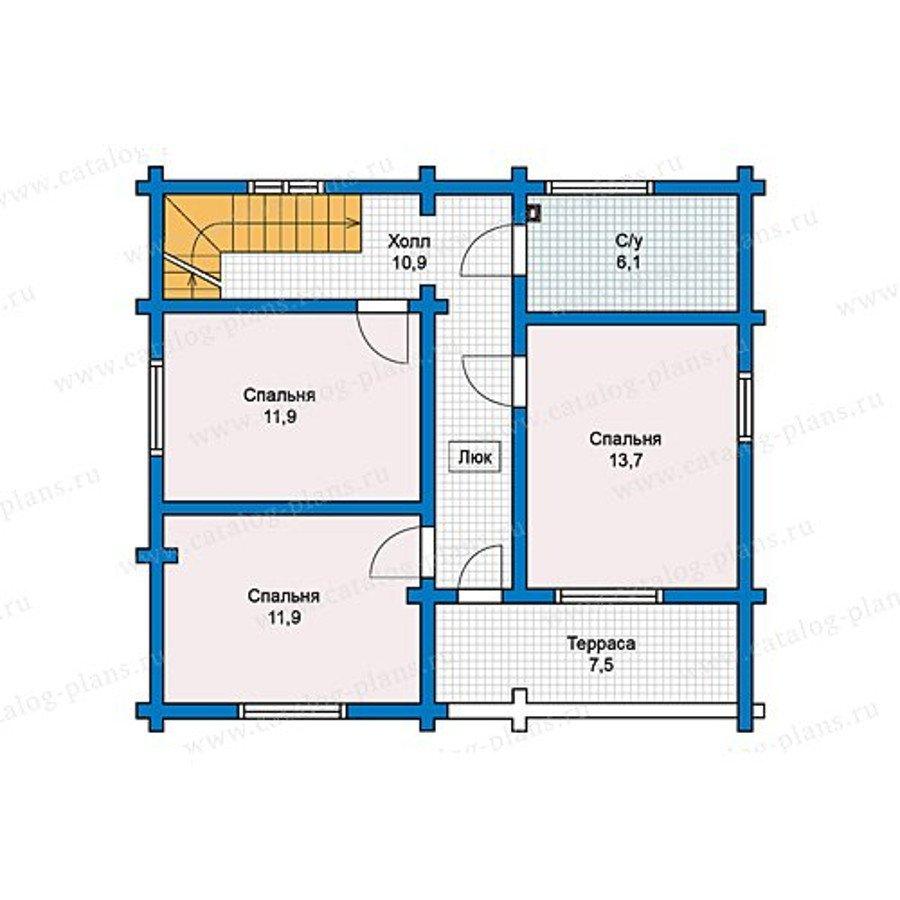 План 2-этажа проекта 13-15