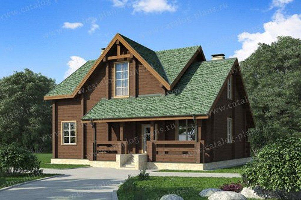 Проект жилой дом #13-21 материал - дерево, стиль шведский
