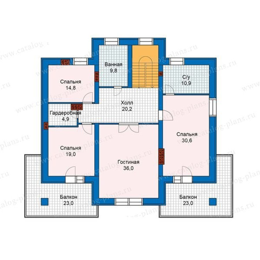План 2-этажа проекта 48-23G