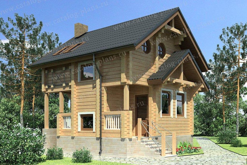 Проект жилой дом #13-55 материал - дерево, стиль скандинавский