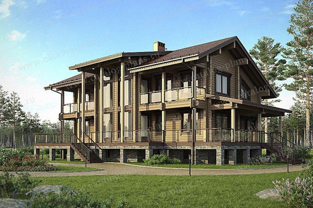 Проект жилой дом #13-35 материал - дерево, стиль скандинавский