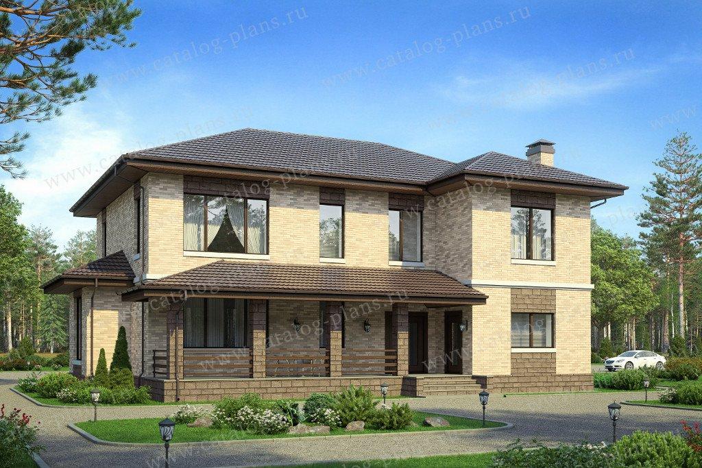 Проект жилой дом #40-43GL материал - газобетон, стиль