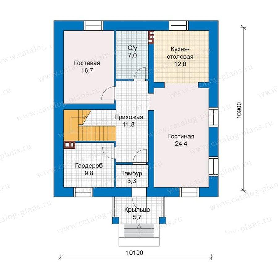 План 2-этажа проекта 48-28G