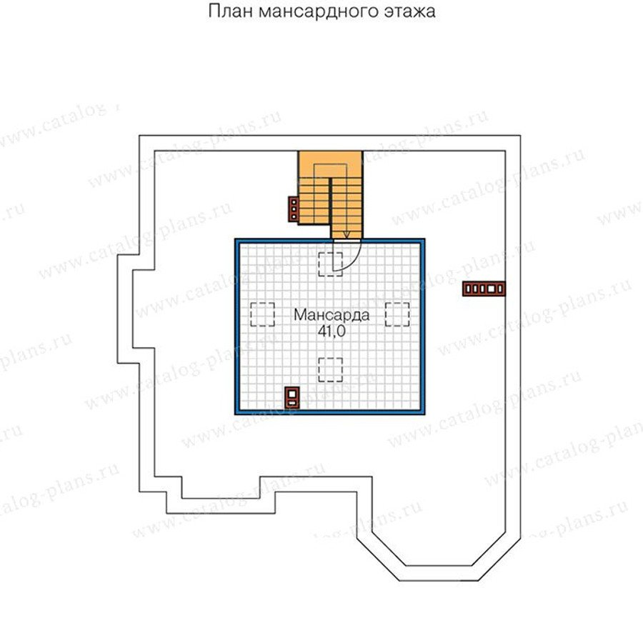 План 3-этажа проекта 48-31G