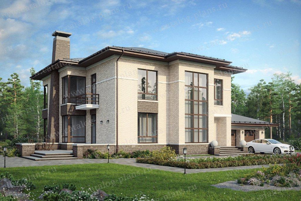 Проект жилой дом #48-30K материал - кирпич, стиль европейский
