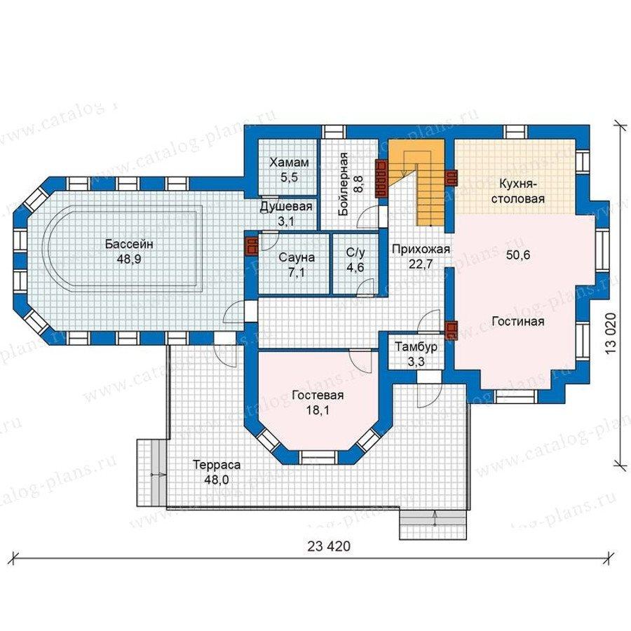 План 1-этажа проекта 48-29G