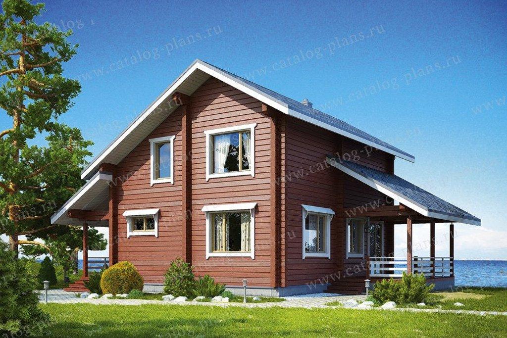 Проект жилой дом #13-33 материал - дерево, стиль скандинавский