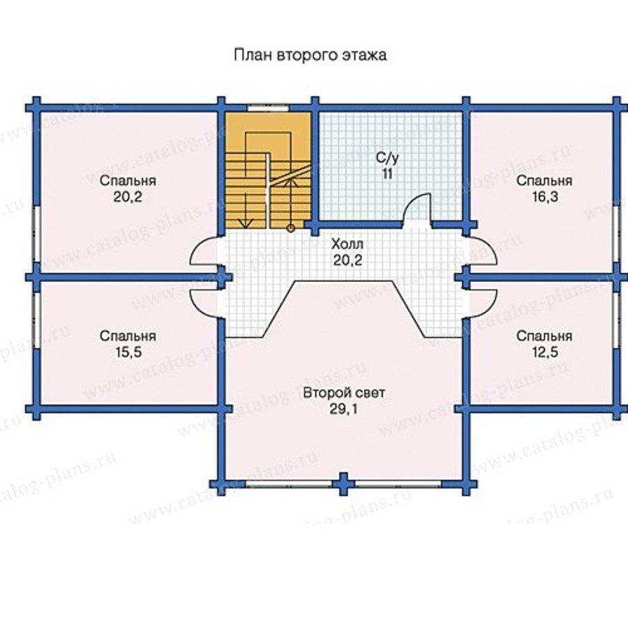 План 2-этажа проекта 13-38