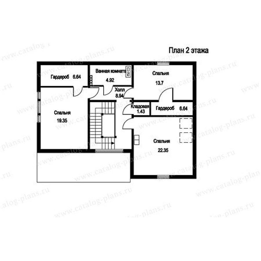 План 2-этажа проекта 13-19