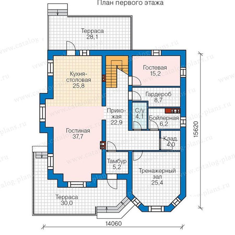 План 1-этажа проекта 48-31G
