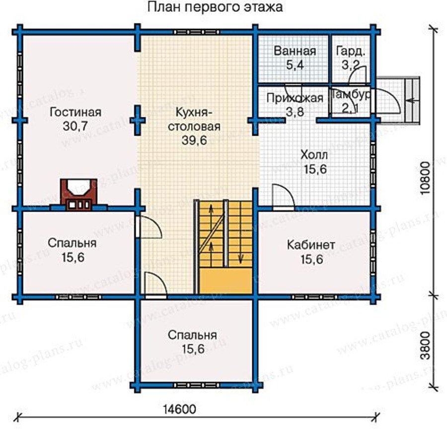 План 2-этажа проекта 13-28