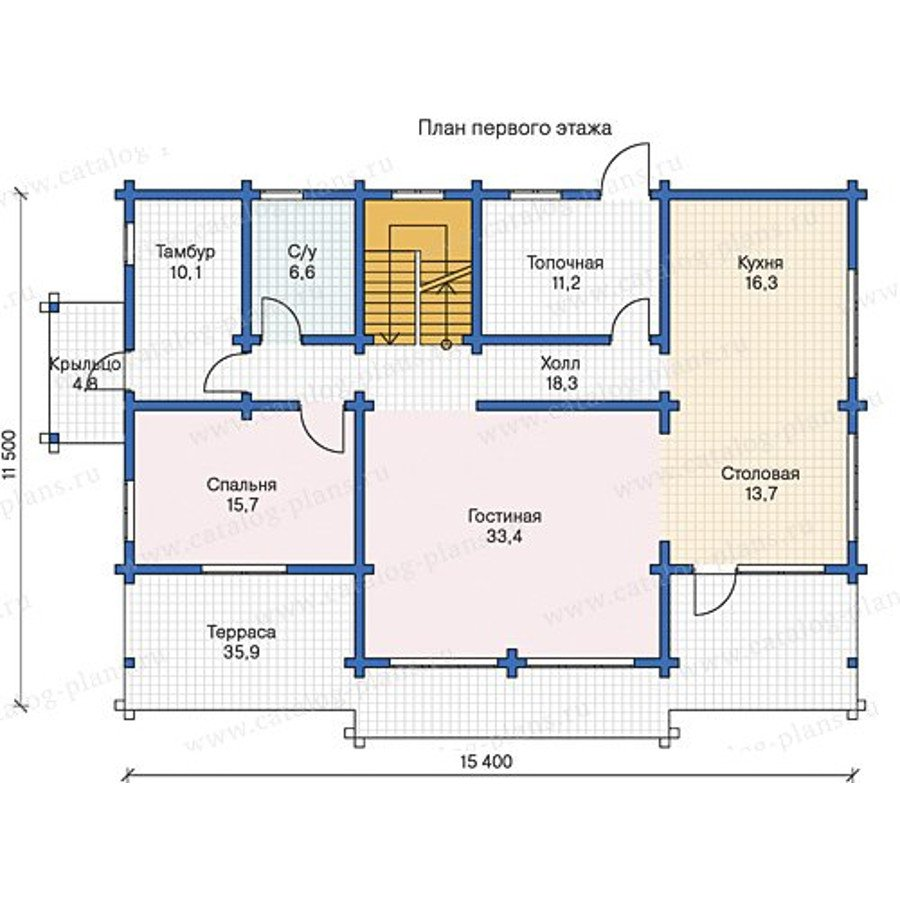 План 1-этажа проекта 13-38