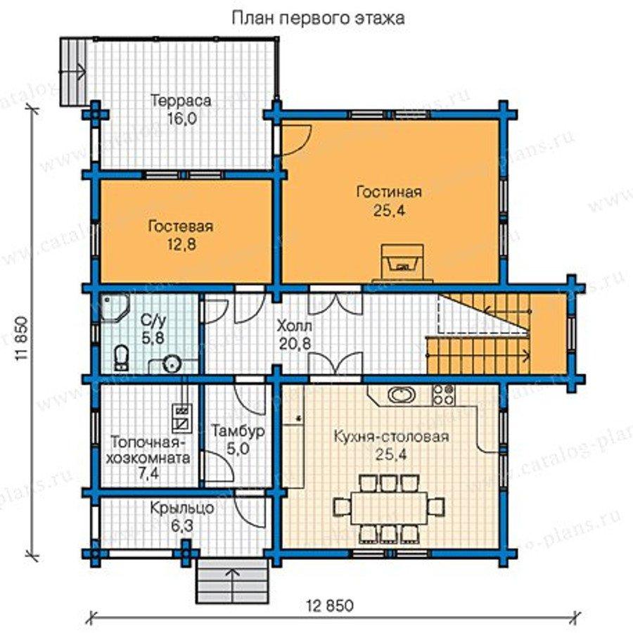 План 1-этажа проекта 13-30
