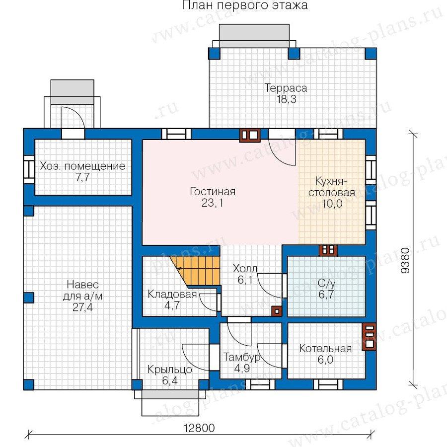 План 1-этажа проекта 48-20AK
