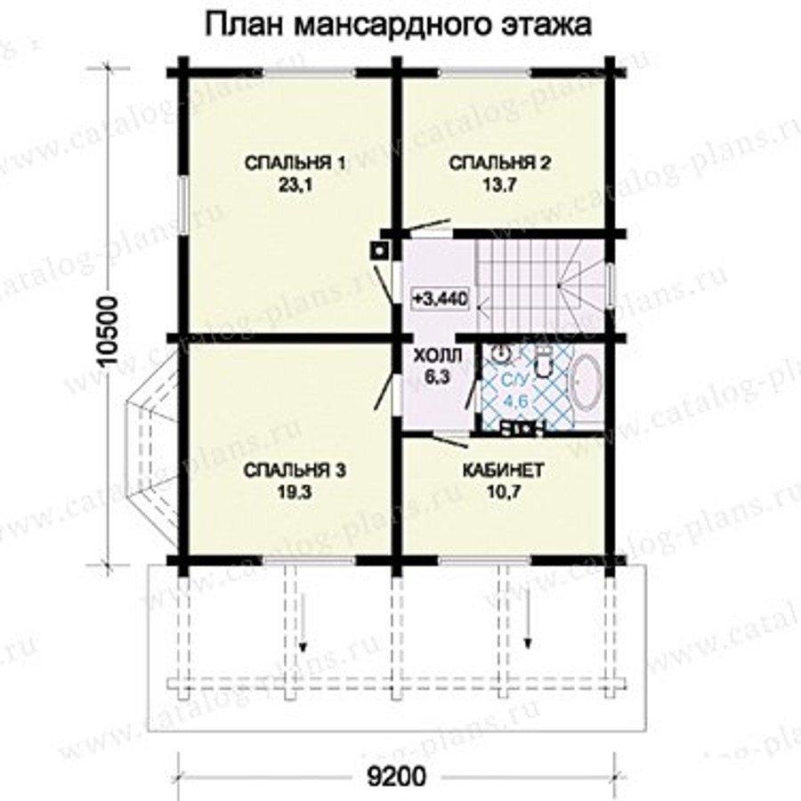 План 2-этажа проекта 13-36