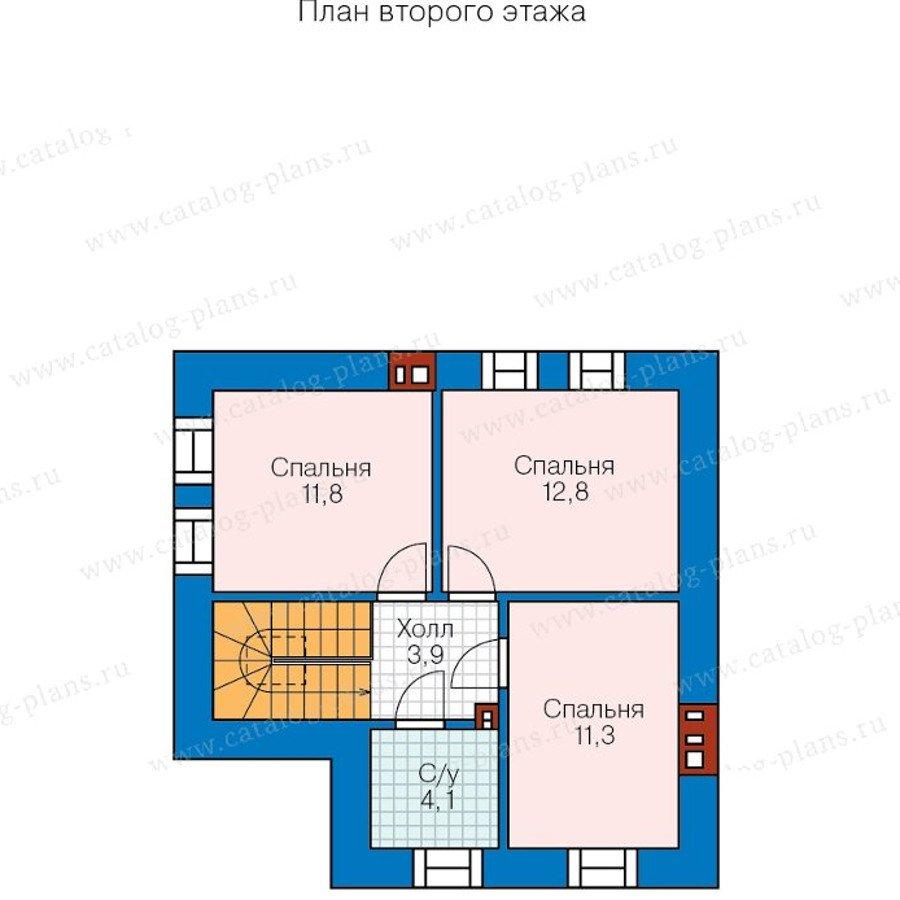 План 2-этажа проекта 48-20BG