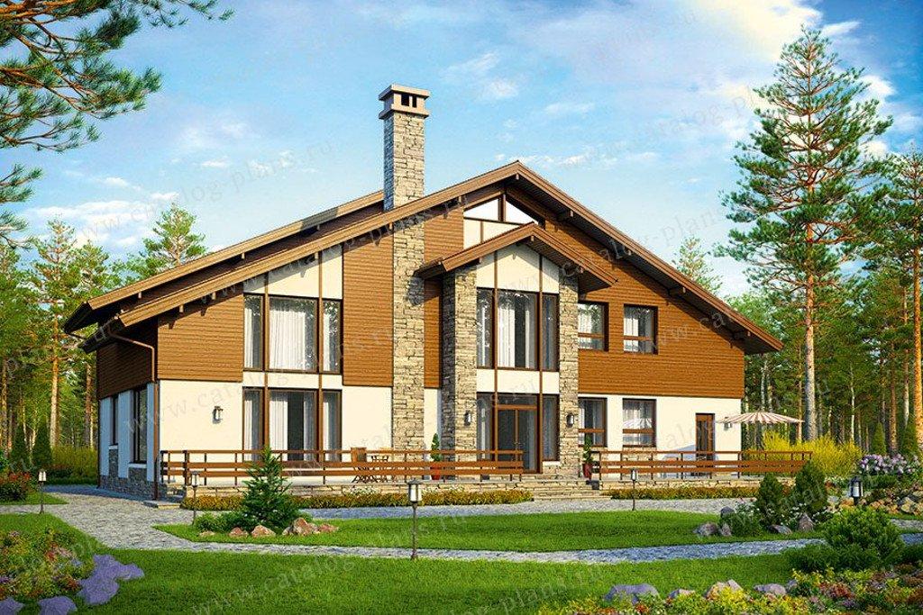 Проект жилой дом #48-33G материал - газобетон, стиль европейский