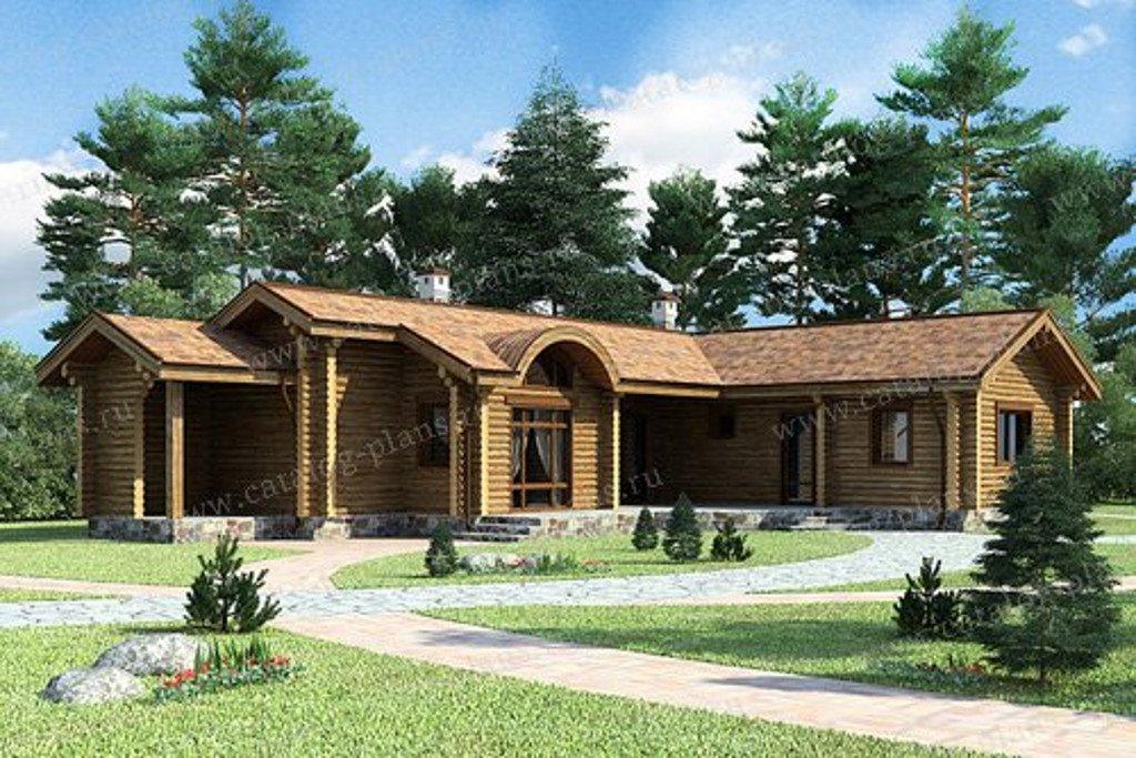 Проект жилой дом #13-24 материал - дерево, стиль скандинавский