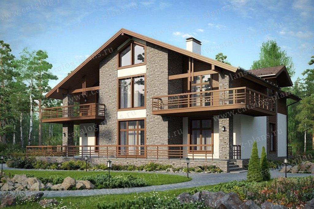 Проект жилой дом #48-23G материал - газобетон, стиль