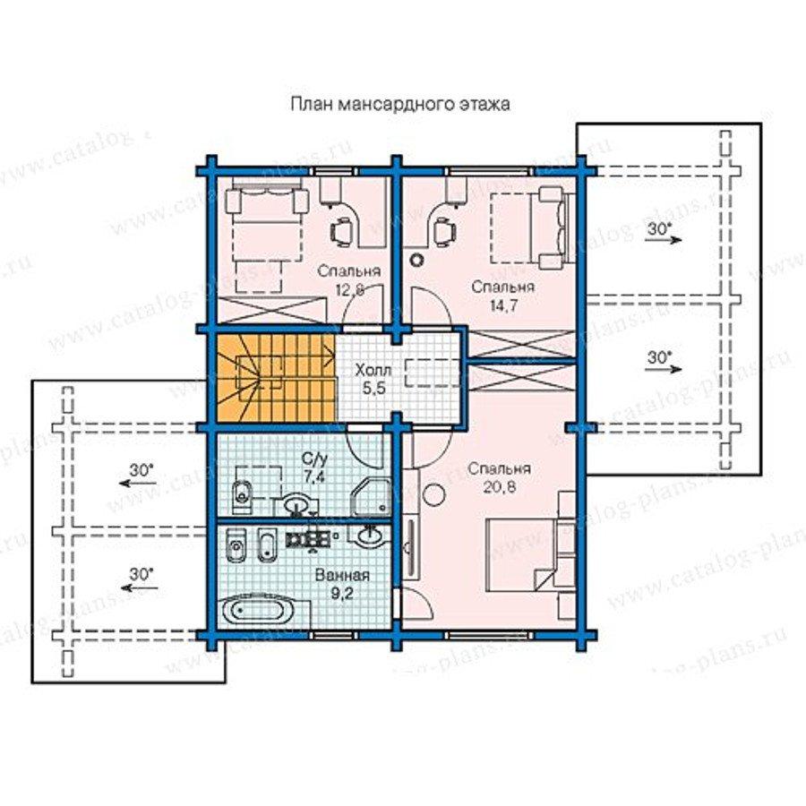 План 2-этажа проекта 13-33