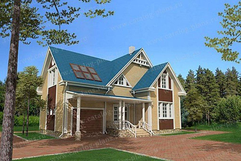 Проект жилой дом #13-19 материал - дерево, стиль модерн
