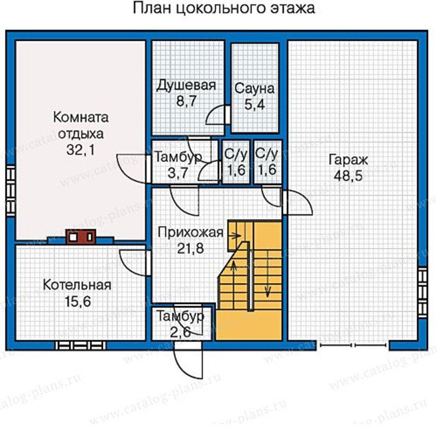 План 1-этажа проекта 13-28