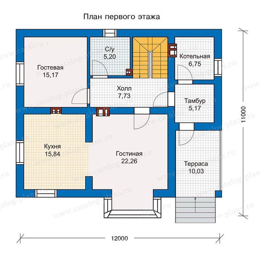 План 1-этажа проекта 56-98K