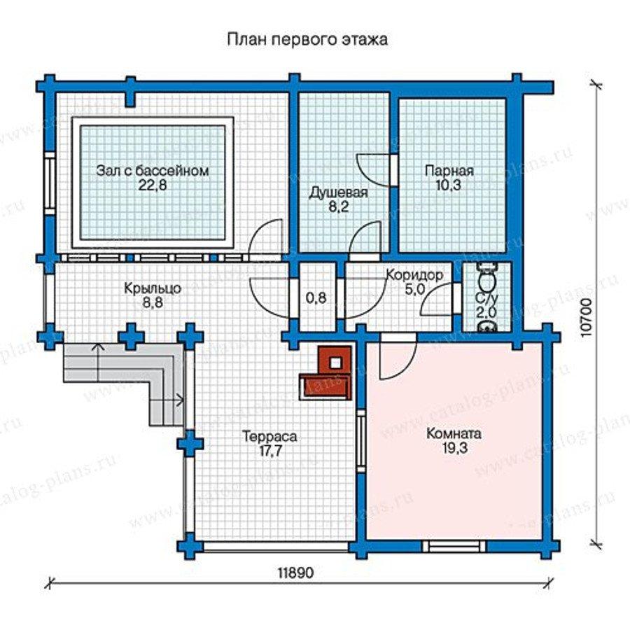 План 1-этажа проекта 13-54A