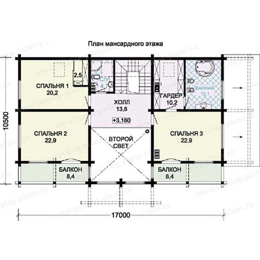 План 3-этажа проекта 13-35