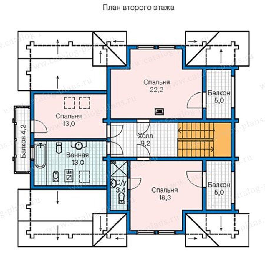 План 2-этажа проекта 13-30