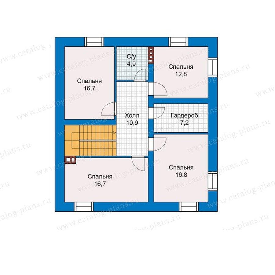 План 3-этажа проекта 48-28G