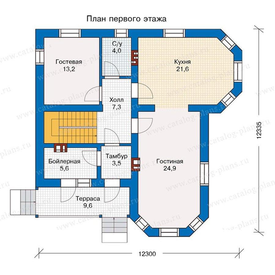 План 1-этажа проекта 56-97K