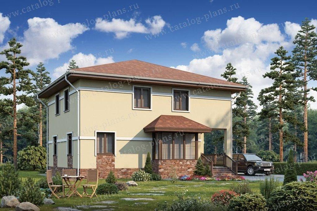 Проект жилой дом #56-99K материал - газобетон, стиль европейский