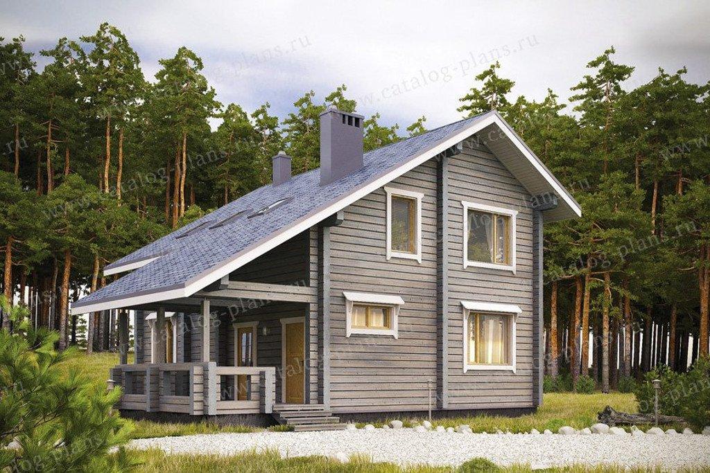 Проект жилой дом #13-32 материал - дерево, стиль скандинавский