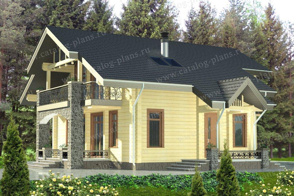 Проект жилой дом #13-57 материал - дерево, стиль норвежский